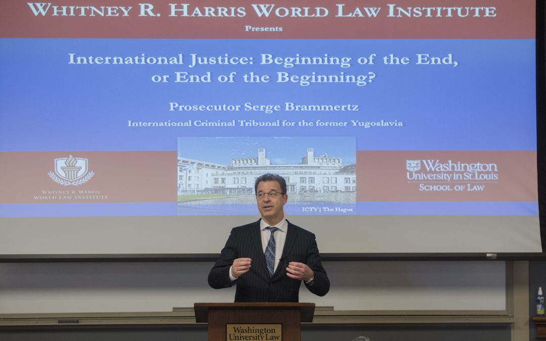 "Prosecutor Serge Brammertz Lectures: ""International Justice: Beginning of the End or End of the Beginning?"""
