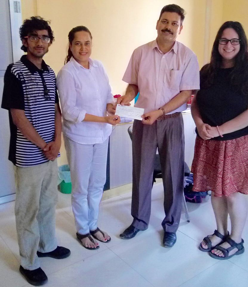 Marla Borkson with ANMF team members Dr. Ganesh Dangal and Dr. Jyoti Bhattarai
