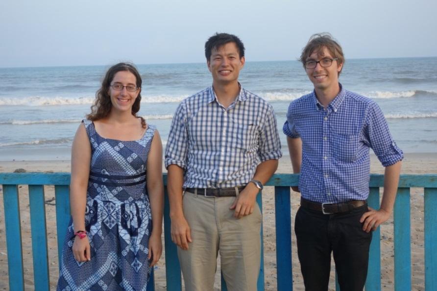 Washington University law students Rachael McClain and Jim Ransdell with Wash U alum Edgar Mason, who works with USAID in Ghana.