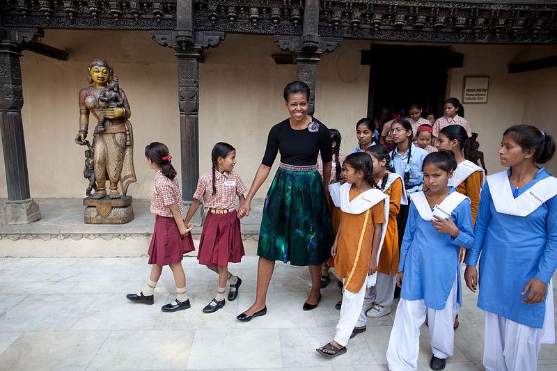 Michele Obama in Delhi, India, in 2010. (Source)